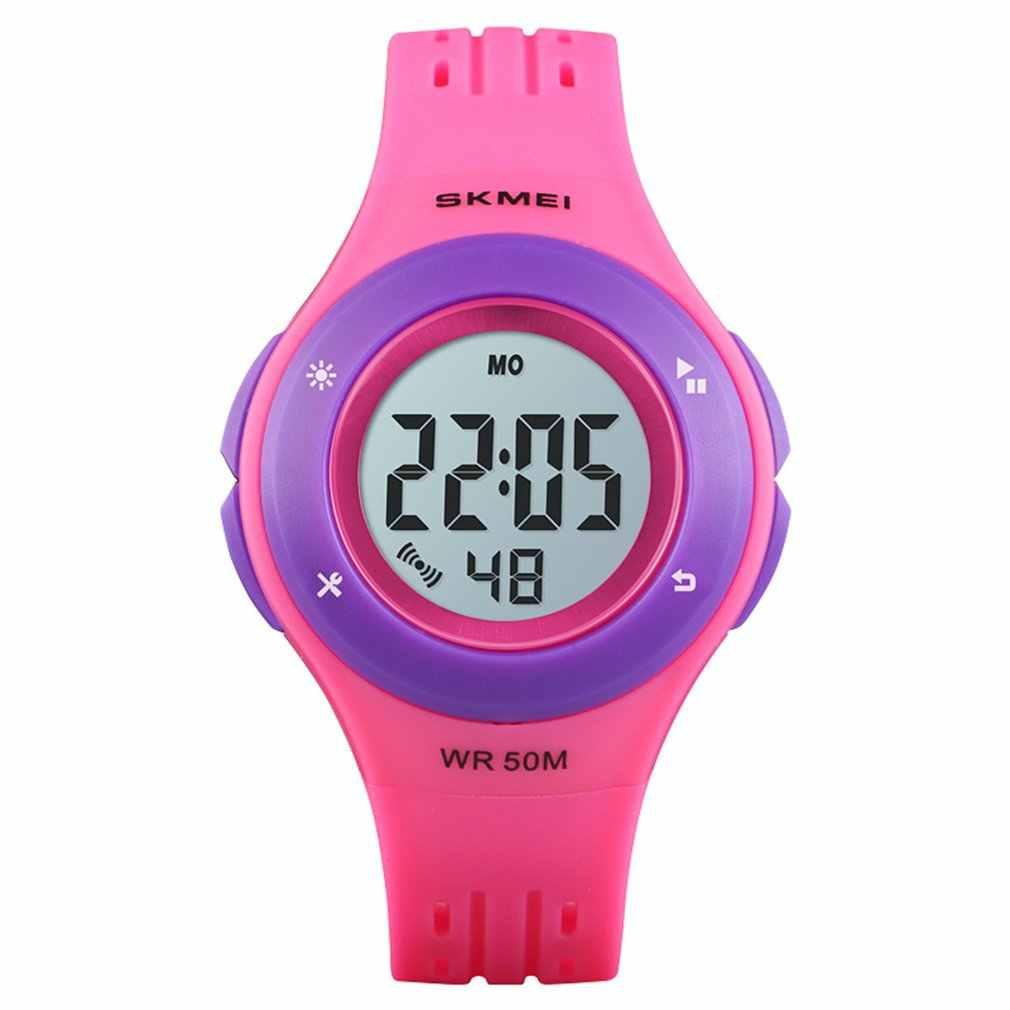 Reloj de pulsera Digital LED multifuncional SKMEI 1455 reloj deportivo impermeable de 50 M para niños y niñas