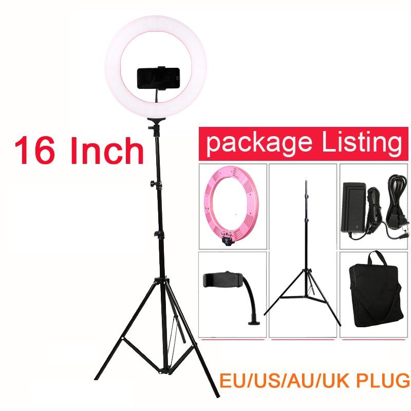 Selfie LED Ring Light 60W 448PCS LED 16 inch 3200 5500K Studio Light with Tripod for
