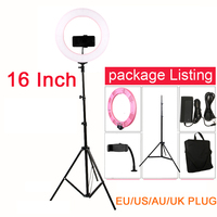 Selfie LED Ring Light 60W 448PCS LED 16 inch 3200 5500K Studio Light with Tripod for youtube Video Phone Holder for Cell Phone