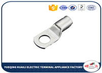 100 PCS Copper Cable Lug Wiring Terminal Connectors Connecting Tinned Lug Tube Copper SC16 6 wire terminal cable lug copper cable lug -