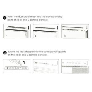 Image 5 - 4 w 1 odporny na kurz pokrowiec Case Mesh korek zestawy do konsoli Xbox One s Slim zapobieganie konsolom zestaw pyłoszczelny
