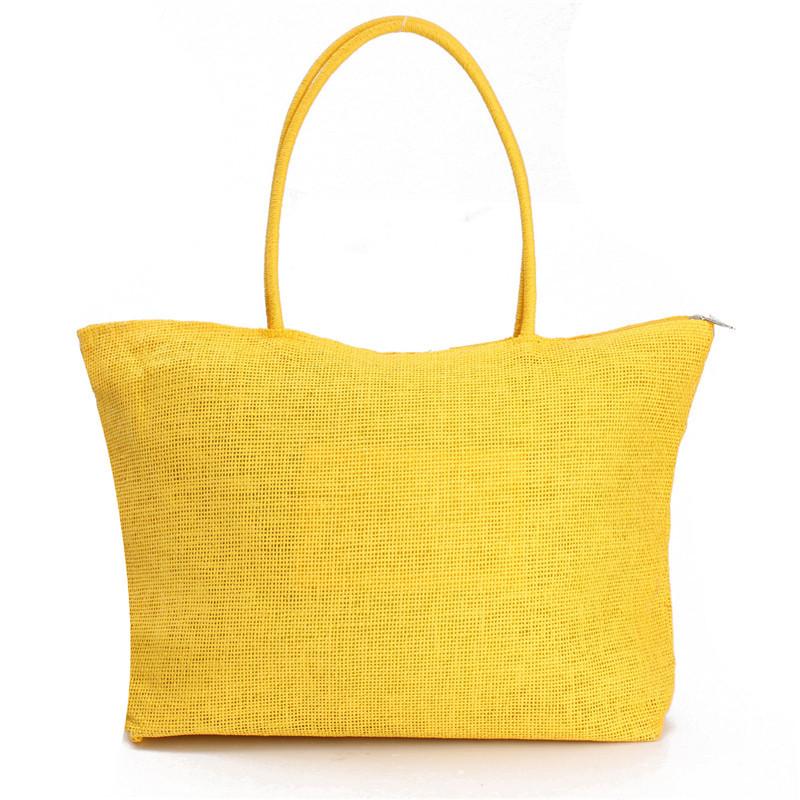 2017 Hot New Design Straw Popular Summer Style Weave Woven Shoulder Tote Shopping Beach Bag Purse Handbag Gift FreeShipping N770 7