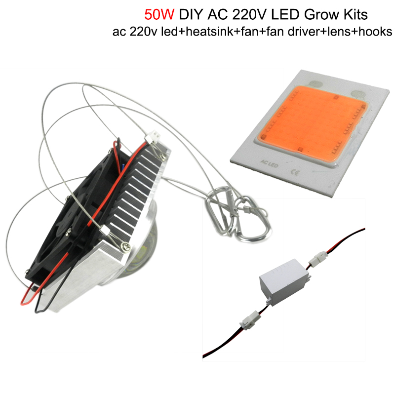 diy 50w 100w full spectrum hydroponics led grow light with full kits for medical plant Greenhouse