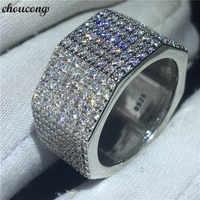 Choucong, ручной работы, шестигранное кольцо, 925 пробы, серебро, полный, 252 шт, AAAAA cz, обручальное кольцо, кольца для женщин, ювелирные изделия