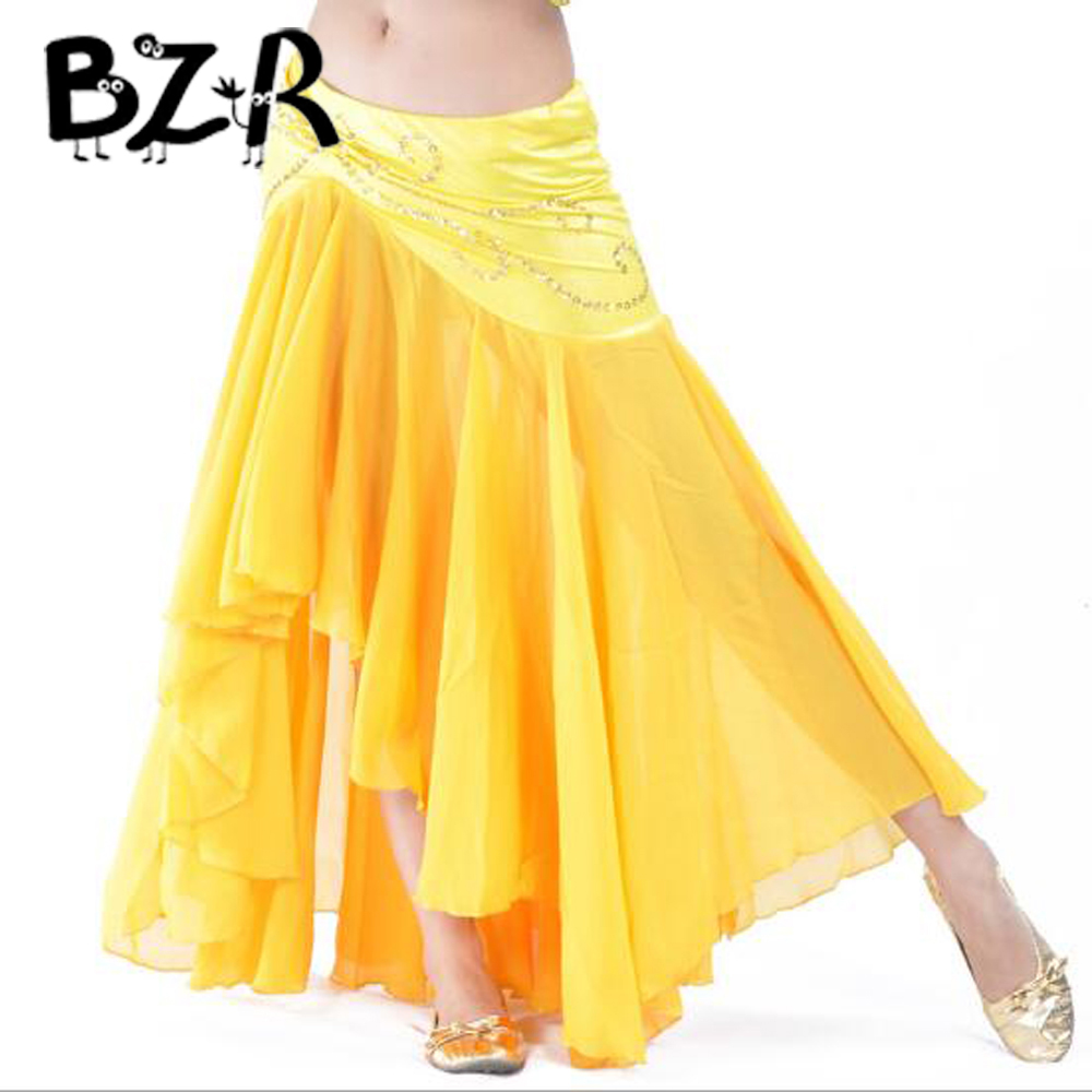 Bazzery 2018 New Sexy Women Belly Dance Skirt Premium Fish Tail Design Stage Performance Bellydance Costumes