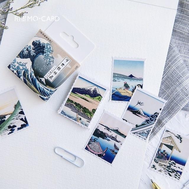 Милая наклейка с кошкой милый дневник ручной работы клейкая бумага хлопья Япония винтажная коробка мини-наклейка Скрапбукинг пуля журнал канцелярские товары - Цвет: 16