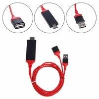 HDMI AVอะแดปเตอร์วิดีโอOTGสายเคเบิ้ลสำหรับแอปเปิ้ลiPad iPhone 7 7บวก6วินาที5วินาทีกับHDทีวี
