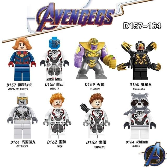 Brinquedo das Crianças blocos de construção Compatível Legoings pc/lote 8 série de Super-heróis da marvel Vingadores THANOS 4 Tijolos presentes de aniversário