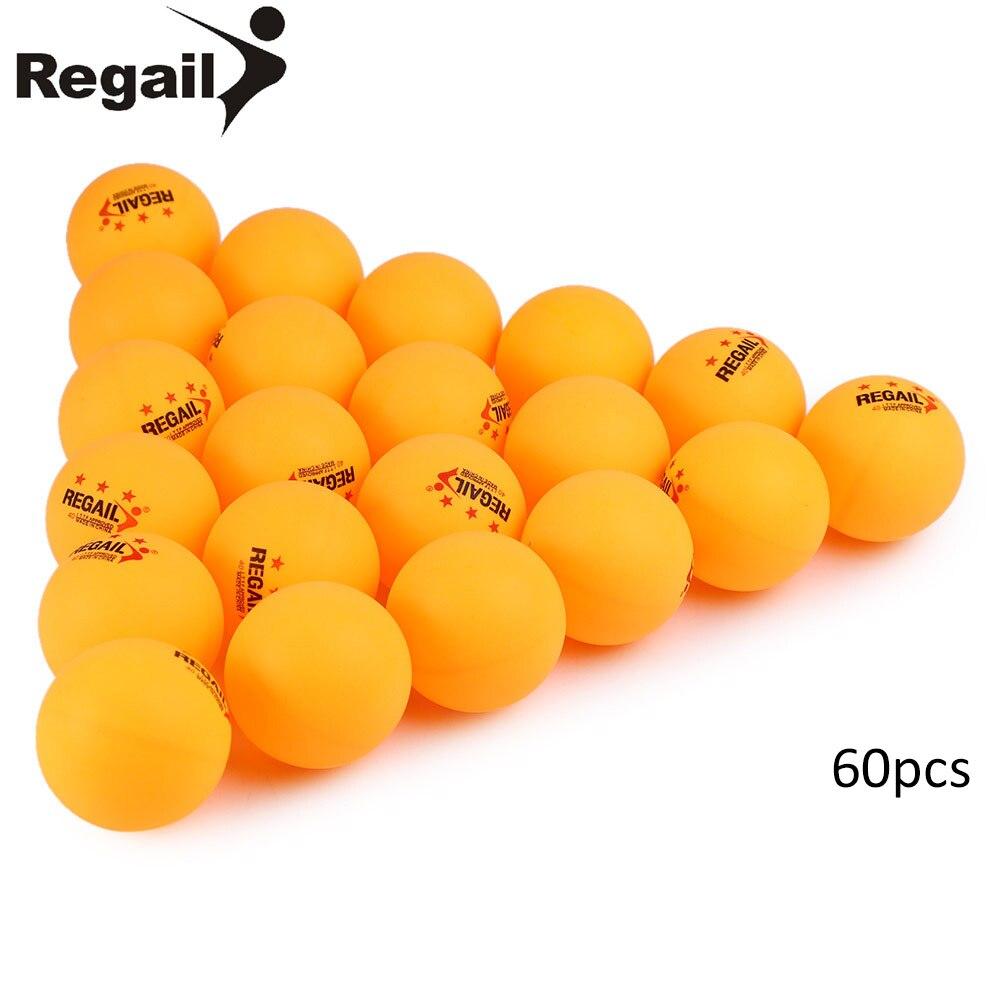 Regail 60 шт./компл. Мячи для настольного тенниса 3 звезды 40 мм Открытый Практика пинг-понг мячи для спорта Развлечения/Professional macth