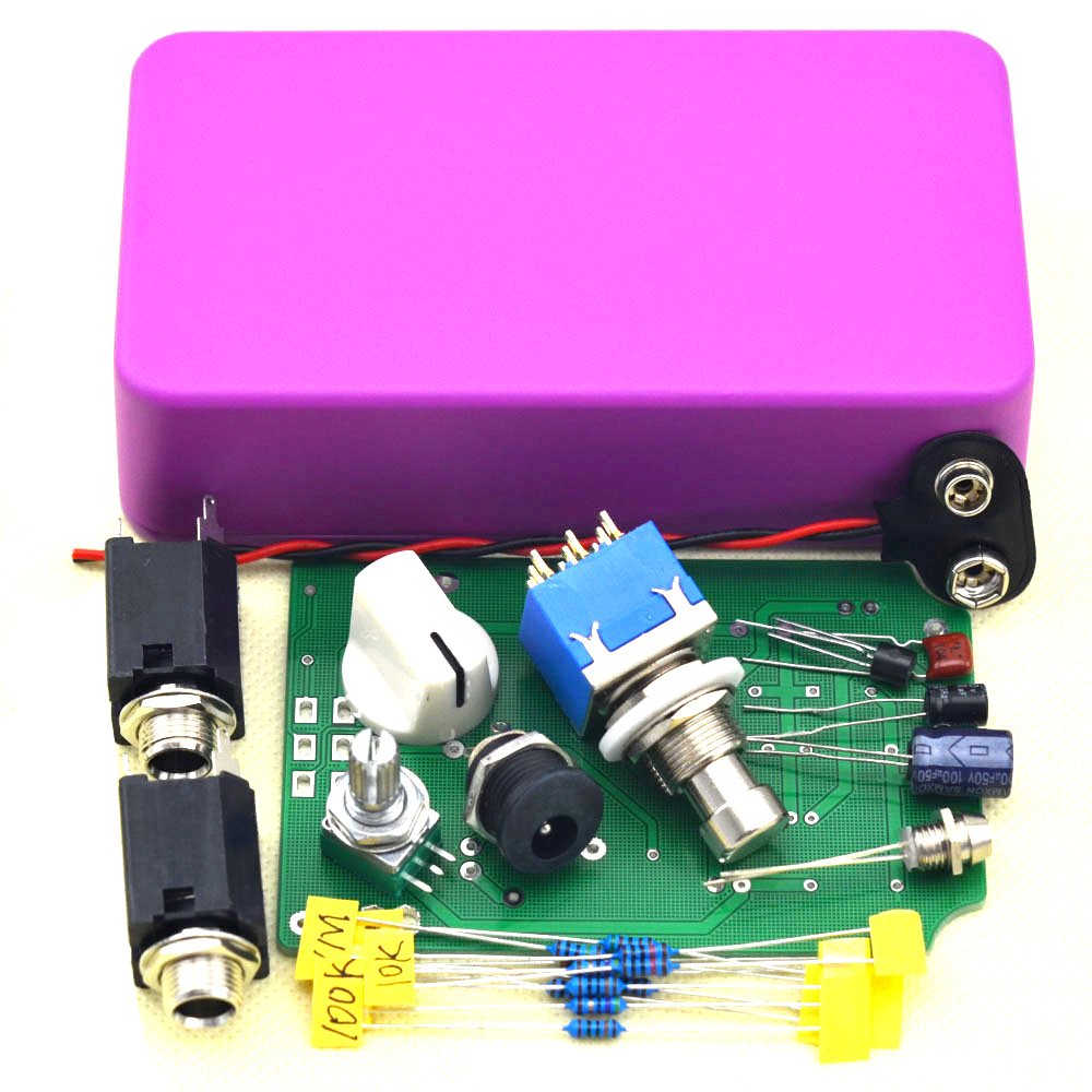 diy guitar boost effects pedal kit true bypass for electric guitar effect pedal box diy free. Black Bedroom Furniture Sets. Home Design Ideas