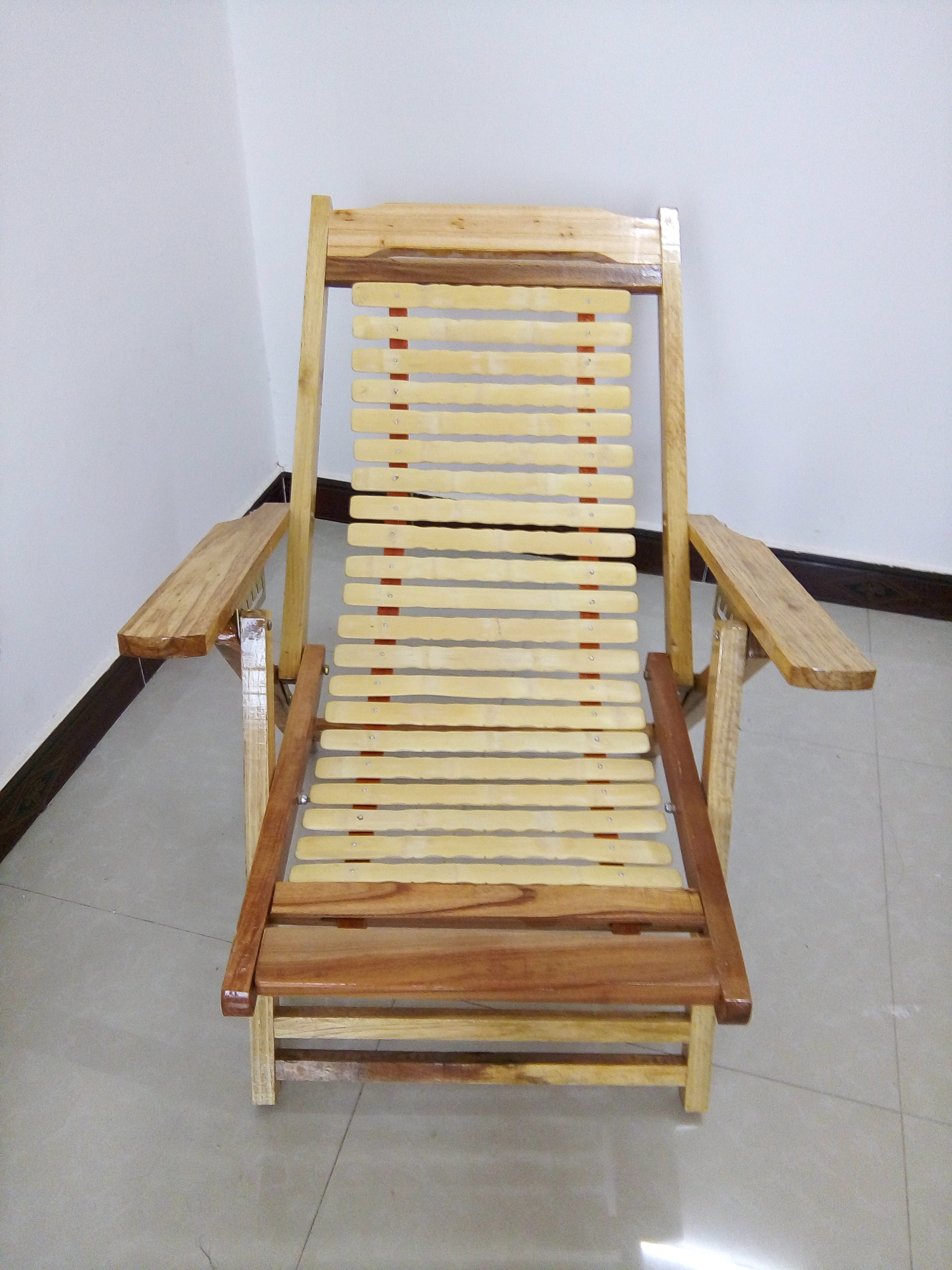 Cedar wood folding chair recliner chairs office lunch nap Wooden