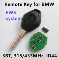 3 Buttons Remote Key For BMW 318 325 330 525 530 540 E38 E39 E46 EWS