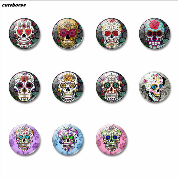 Candy skeleton time gem magnetic glass refrigerator paste 25mm. ...