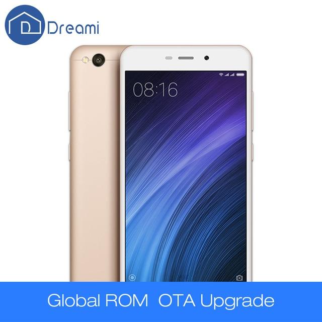 "Dreami Оригинал Xiaomi Redmi 4A Телефон Snapdragon 425 Quad Core ЦПУ 2ГБ RAM 16ГБ ROM 5.0"" 720p 3120мАч Аккумулятор 13 Мегапикселей Камера"