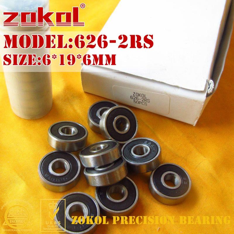 ZOKOL 626 RS ZZ Z1 Bearing 626-2RS 626ZZ P5Z4 Miniature  Deep Groove Ball Bearing 6*19*6mm