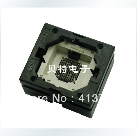 BGA64 block Valley IC test socket adapter burn 1.0mm pitch CBG064-087A ucos private seat conversion adapter zy254b ic burn test