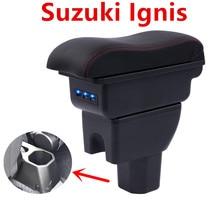 Для suzuki ignis подлокотник коробка автомобиля центральный подлокотник коробка для хранения держатель стакана, пепельница Модификация аксессуары