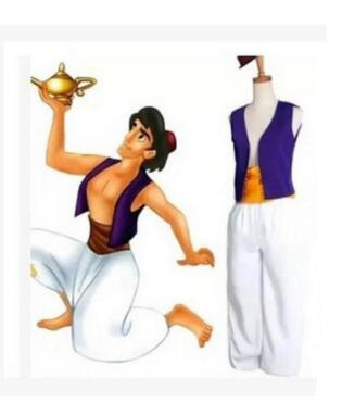 Adult Aladdin Lamp Prince Aladdin Costume Halloween Anime Cosplay Fancy Dress Adam prince Costumes