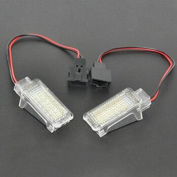Автомобильный светодиодный проектор, 2 шт., 12 В, для Audi A3/A4/A6/VW/Skoda, фонарь для ног, привидения, тени, лампа 6500 K, белый