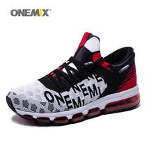 ONEMIX Man Running Shoes Outdoor Athletic Trainers White Black Sports Air Cushion Breathable Women Jogging Walking Sneakers onemix man running shoes for men lightweight athletic trainers black zapatillas sports shoe outdoor walking sneakers free ship