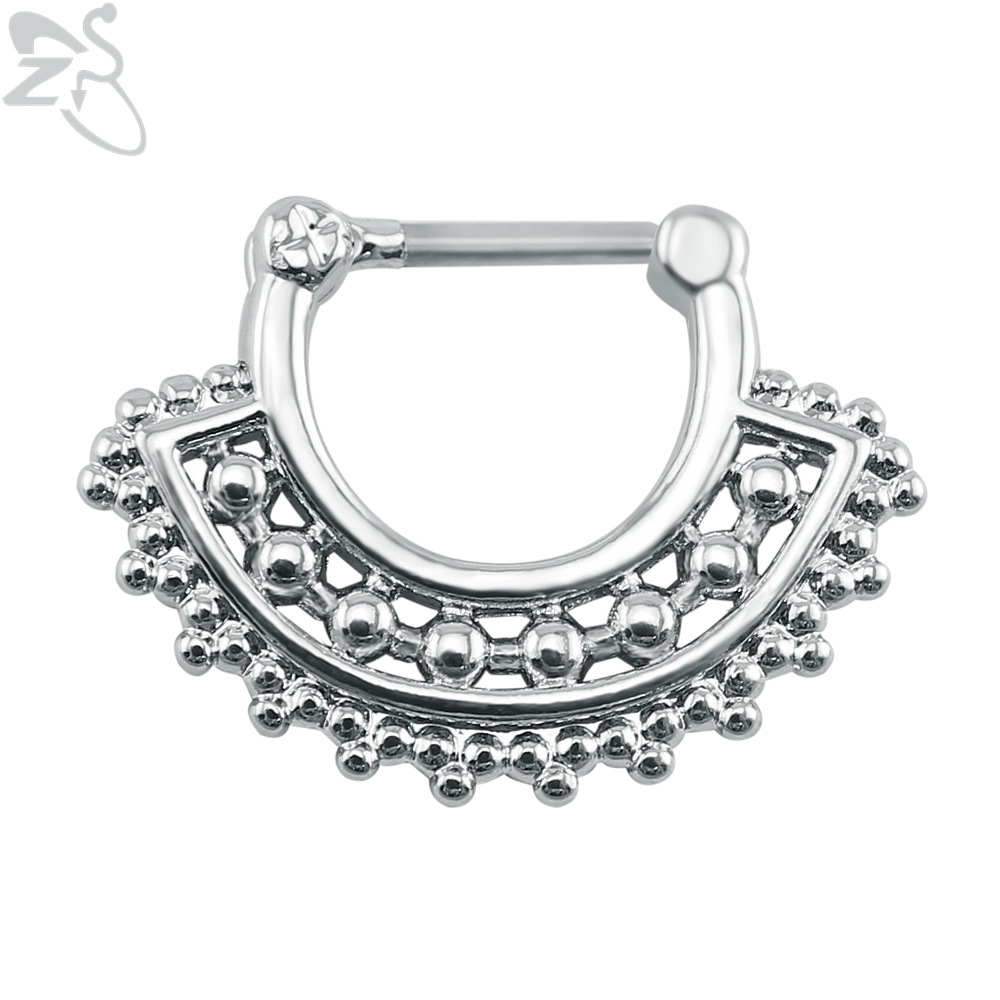 Jewelry amp watches gt fashion jewelry gt body jewelry gt body piercing - Zs Septum Piercing Ring Stainless Steel Septum Clicker 16g Indian Nose Ring Piercing Real Clip On