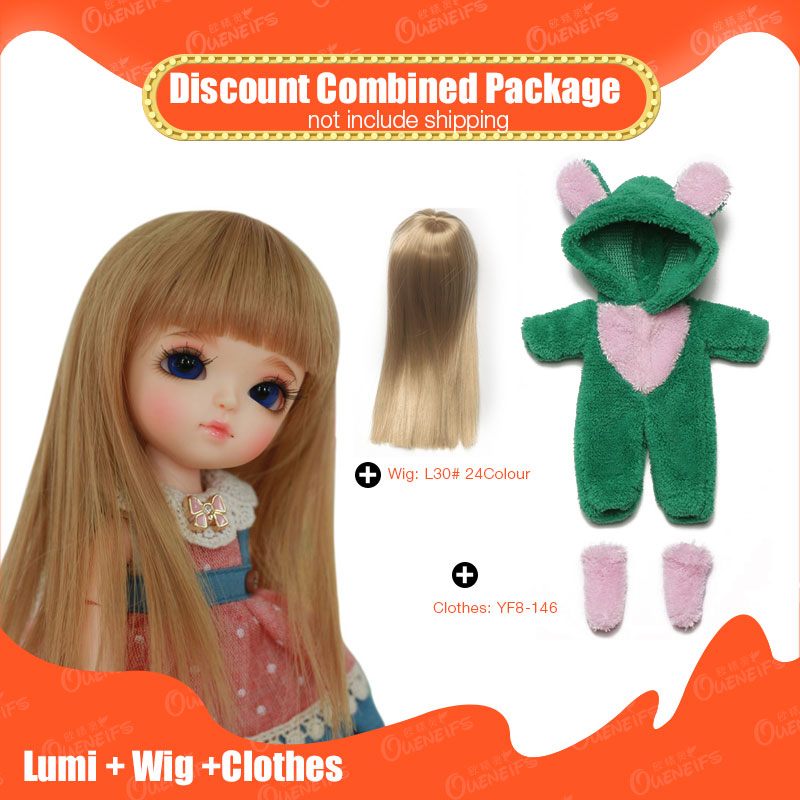 OUENEIFS 1/8 bjd sd doll Lumi lati yellow add Wig and beautiful Clothes Discount Combined Package choose face up or no face up