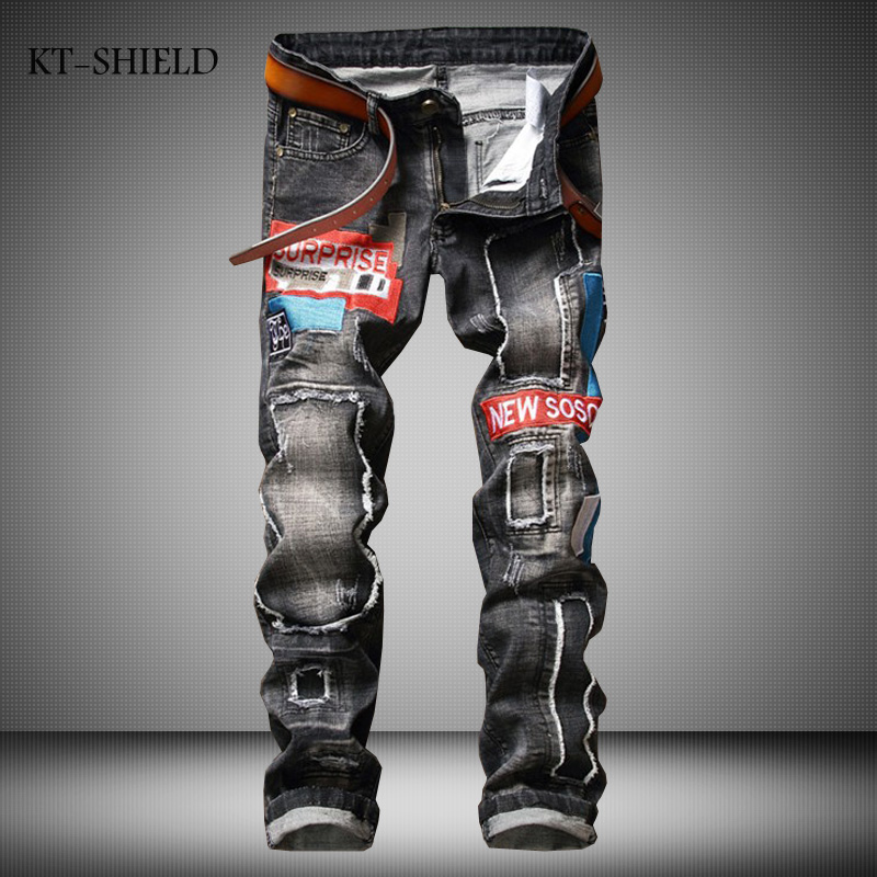 Biker mens Slim fit ripped Distressed motorcycle jean cargo trousers hombre overalls fashion printed calca jeans masculino ripped distressed jean hombre slim fit denim overalls fashion mens biker casual hip hop long trousers calca jeans masculina