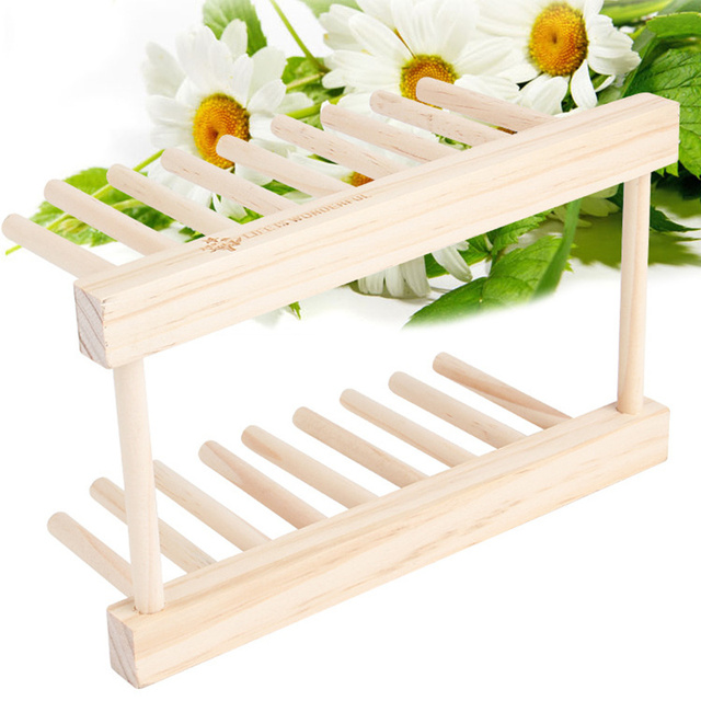 Bowl Wooden Storage Holder Sink Drying Rack Kitchen Foldable Dish Plate Drying Rack Drainer Kitchen Accessories Organizer