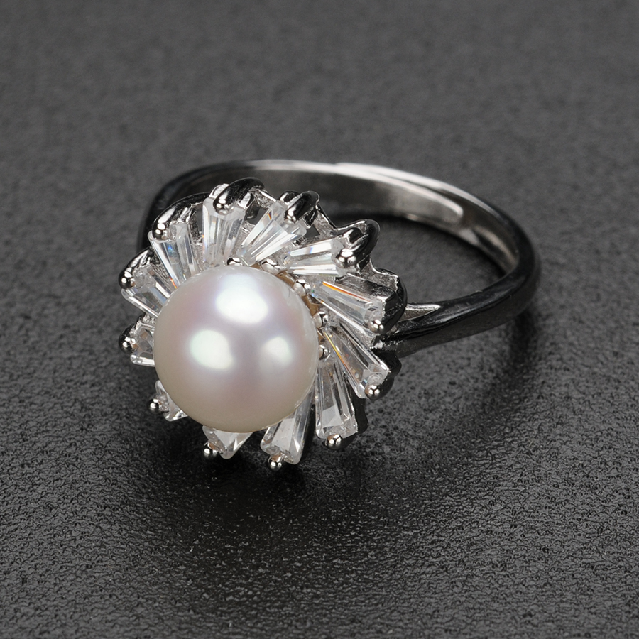 Medium Of Pearl Wedding Rings