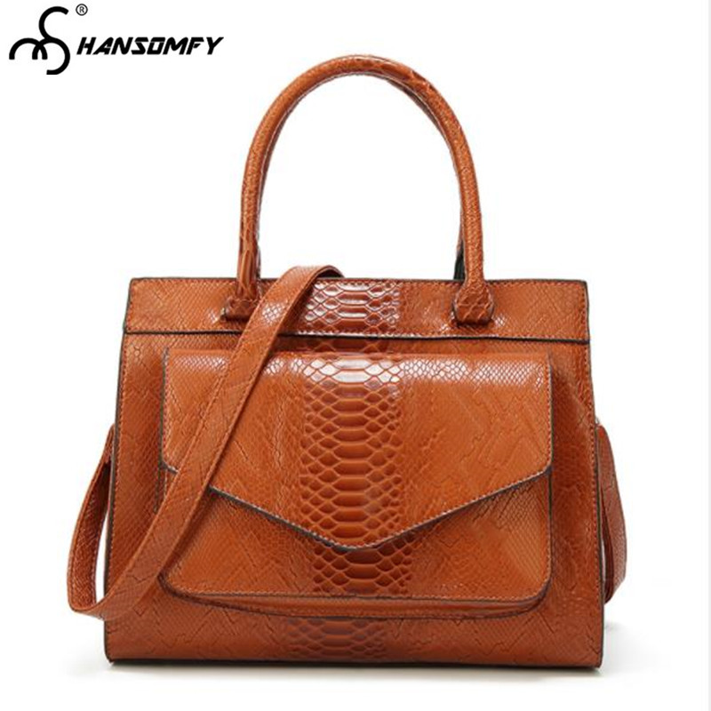 2018 new snake pattern Women handbag European and American fashion female shoulder bag simple atmospher wild messenger Bags2018 new snake pattern Women handbag European and American fashion female shoulder bag simple atmospher wild messenger Bags