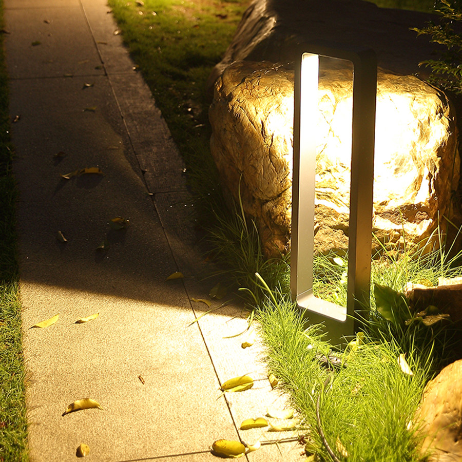 Image 4 - Thrisdar IP65 Outdoor Garden Pathway Lawn Light Holiday Landscape Lawn Pillar Light Villa Passage Walkway Bollard Light-in LED Lawn Lamps from Lights & Lighting