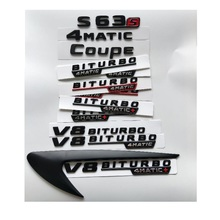 цены на Black Letters S63 S63s V8 BITURBO 4MATIC+ Fender Trunk Tailgate Emblem Emblems Badges for Mercedes Benz AMG W221 W222 Coupe  в интернет-магазинах