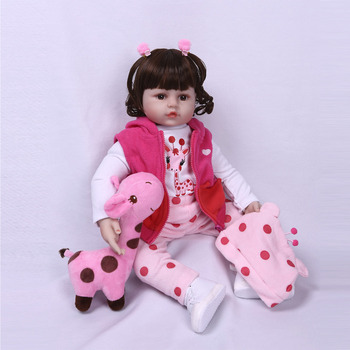 Nicery 20-22inch 50-55cm Bebe Reborn Doll Soft Silicone Boy Girl Toy Reborn Baby Doll Gift for Children Pink Hat Pink Coat