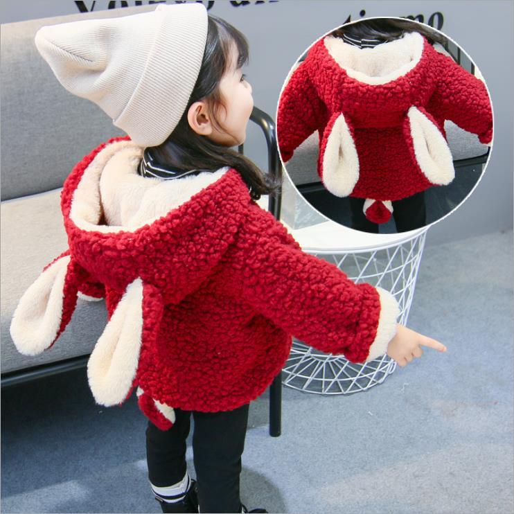 100% Kwaliteit Pasgeboren Warme Jas Voor Meisjes Dikker Katoenen Baby Winter Kleding Plus Fluwelen Jasje 1-2-3 Jaar Oud Koreaanse Meisje Peuter Bovenkleding