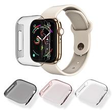 for Apple Watch Series 4 Case 44mm, [3 Pack]  Slim HD PC Built in All Around Screen Protector Protective Cover iWatch 44mm