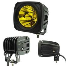 25w Square LED Work Light 3000K Yellow Spot led work lamp for 4x4 Offroad ATV Truck Driving 12V 24V External