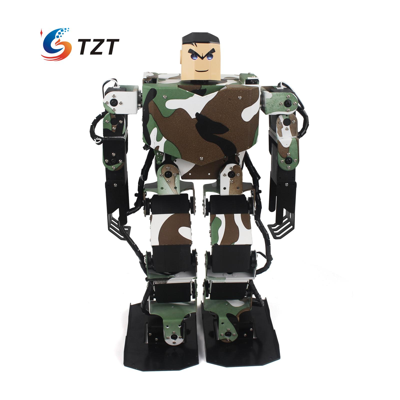 Soldier King 16DOF Smart Humanoid Robot Frame Kits Contest Dance Biped Robotics with Servos for DIY Unassembled new 17 degrees of freedom humanoid biped robot teaching and research biped robot platform model no electronic control system
