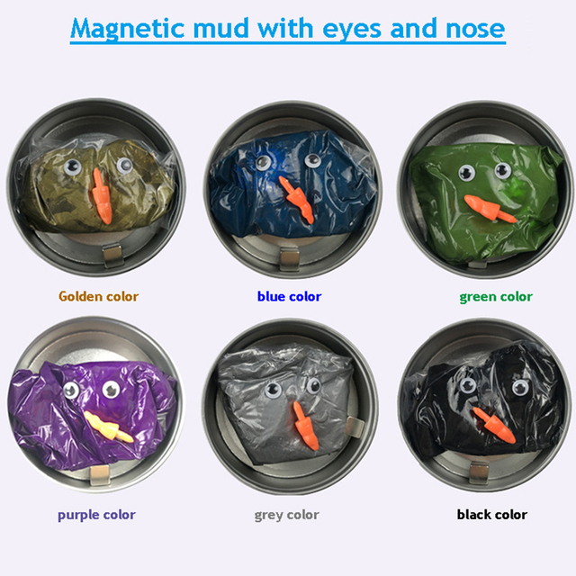 6Colors Modeling Clay Hand Putty Slime Play Dough Magnetic Rubber Mud Intelligent Plasticine Children Learning Education Toys 1