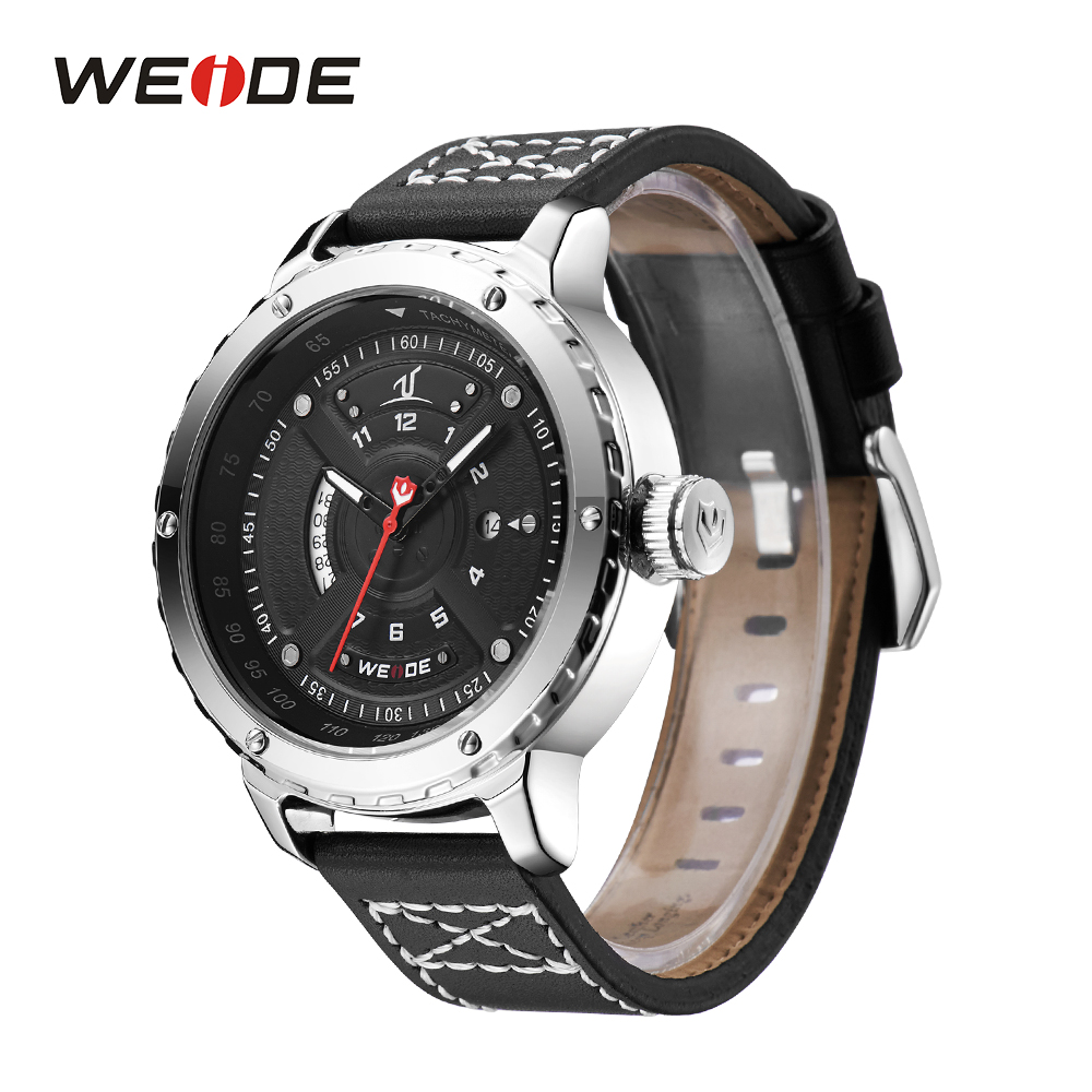 WEIDE Calendar Analog Black Leather Strap Official Quartz Men Watches Sports Watch Clock Gentle Men Male Students Reloj Hombre armiforce quartz men watches fashion genuine leather chronograph watch clock for gentle men male students reloj hombre
