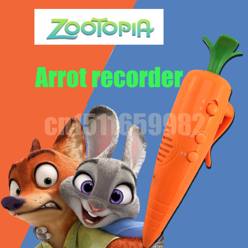 Cartoon Movie Zootopia Judy Cosplay Accessory Officer Judy's Carrot Recorder Pen Resin Carrot Cosplay Prop Zootopia Anime Toy