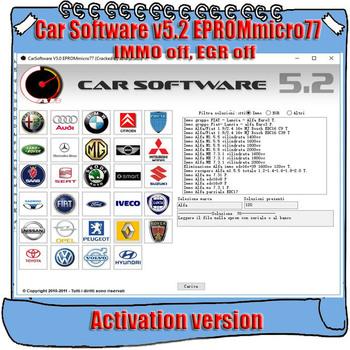 Oprogramowanie samochodowe V5 2 EPROMmicro77 aktywacja CarSoftware 5 2 (Immo Off EGR Off i narzędzie naprawcze gorącego startu) tanie i dobre opinie none alansh windows xp 7 8 10 Italian immo and egr off