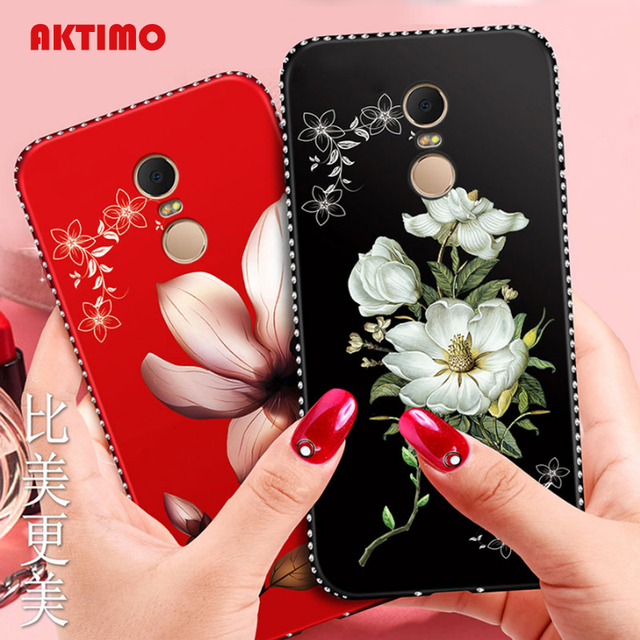 Bling Crystal Flower Cover Case For Xiaomi Redmi Note 4 4X 5A Pro 5 Plus 6 6A S2 Mi 6X 5X A1 A2 8 SE Cases Rose Protector Coque