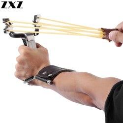 Caça estilingue catapulta aço inoxidável lagarto com objetivo de tiro ao ar livre estilingue handheld com faixa de borracha ferramentas de pesca