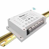 Sonoff 4CH Pro 4 Gang Wifi Smart Switch 4 Canali Wifi luce Interruttore 10A 2200 W APP Telecomando 4 Dispositivi Supporta RF ricevitore