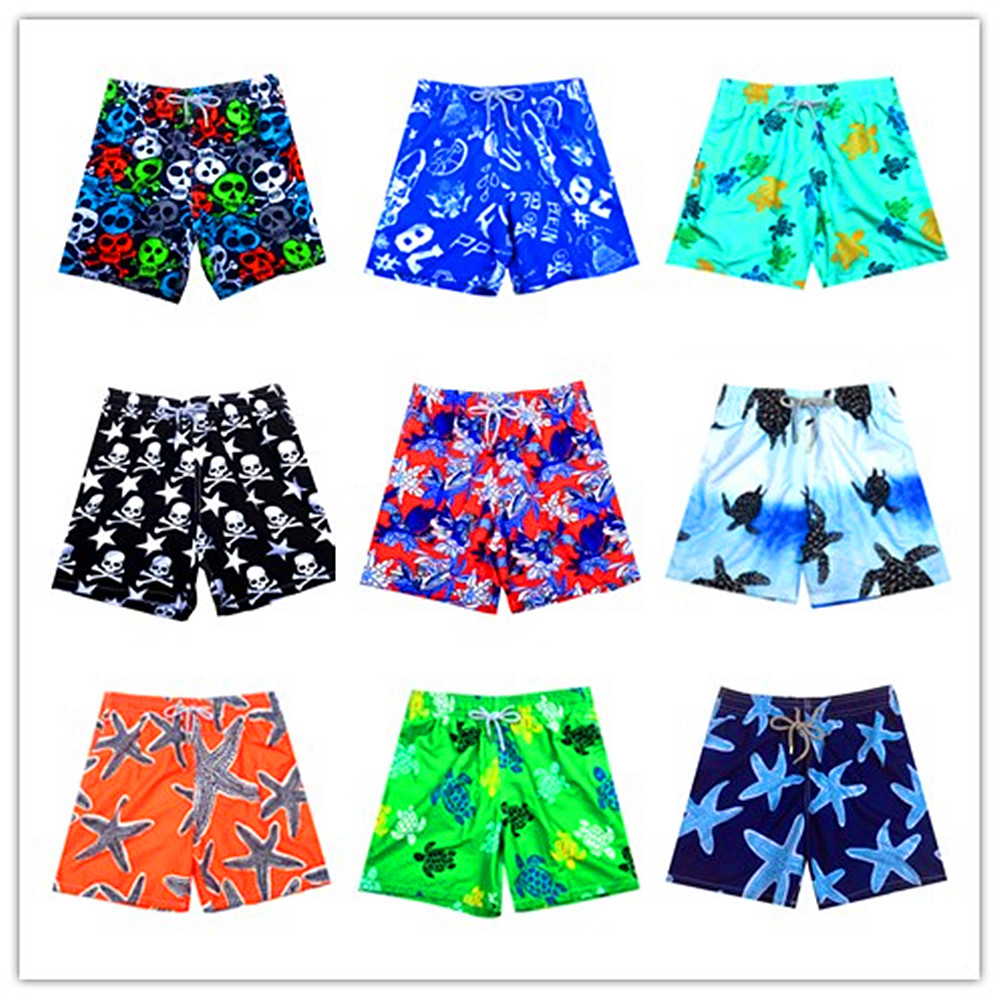 2018 Brand BREVILE PULLQUIN Boardshorts Man Turtle Print Bermuda Mens Board Short Summer Short Pants Beach Wear Sexy Quick Dry