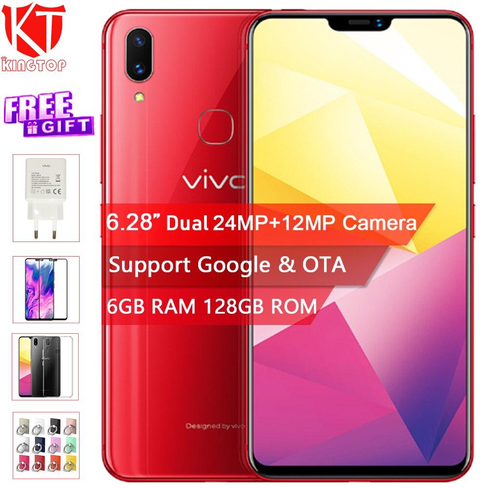 Original VIVO X21i Mobile Phone 6.28 Full Screen 6GB RAM 128GB ROM Octa Core Android 8.1 Dual Camera 24.0MP+5MP Dual SIM Phone