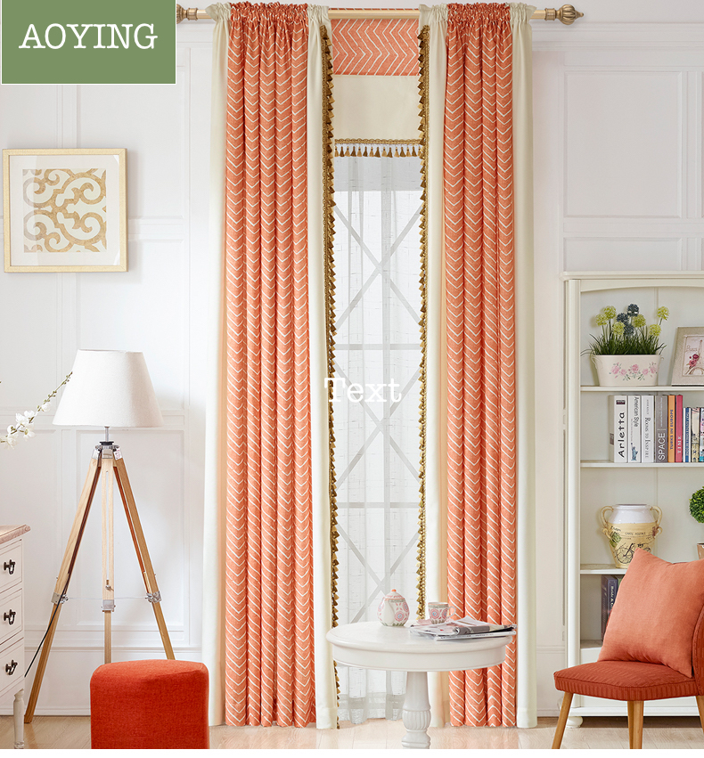 Compare prices on curtains orange online shopping buy low - Orange curtains living room ...