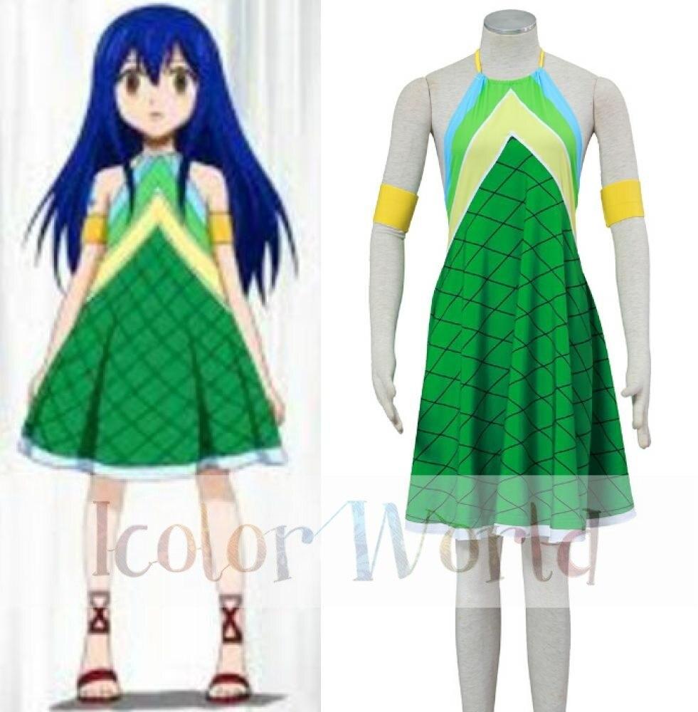 fairy tail wendy marvell green dress cosplay costume halloween costumechina mainland - Green Fairy Halloween Costume