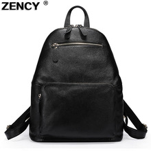 Zency Soft Genuine Leather Top Layer Cowhide Womens Backpack Tote Bag