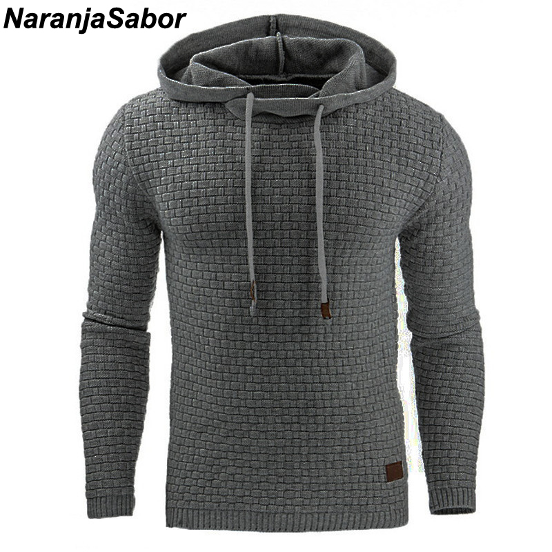 NaranjaSabor 2019 Autumn Men's Hoodies Slim Hooded Sweatshirts Mens Coats Male Casual Sportswear Streetwear Brand Clothing N461(China)